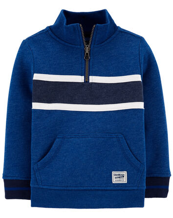 Mock Neck Logo Fleece Pullover