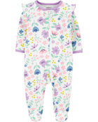 Floral 2-Way Zip Cotton Sleep & Play, , hi-res