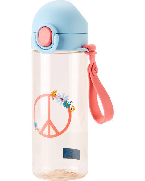 Bouteille d'eau signe de paix