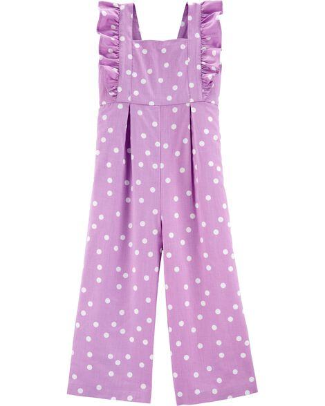 Polka Dot Flutter Jumpsuit