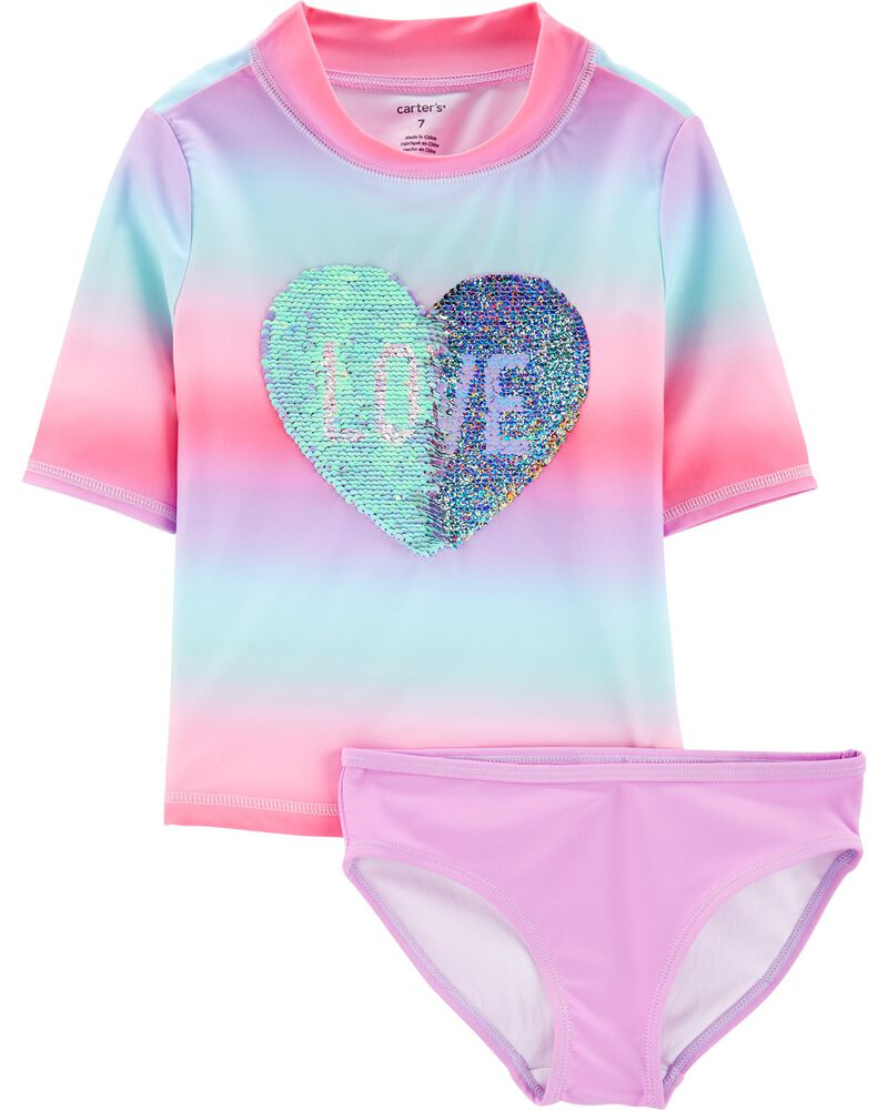 Flip Sequin 2-Piece Rashguard Set, , hi-res