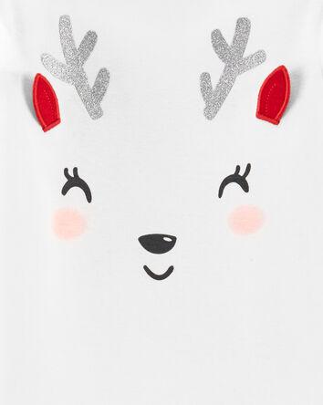 2-Piece Holiday Reindeer Bodysuit P...