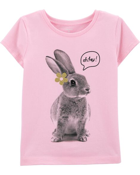 T-shirt en jersey à lapin