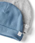 2-Pack Organic 2-Ply Cotton Rib Caps, , hi-res