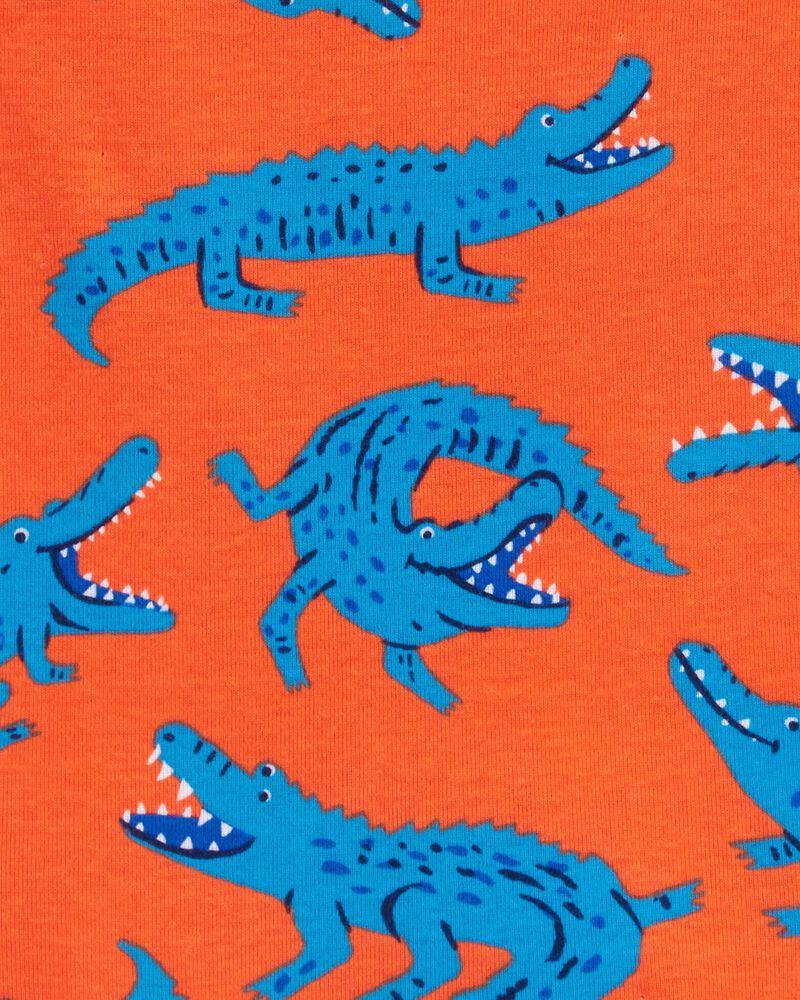 4-Piece Alligator 100% Snug Fit Cotton PJs, , hi-res