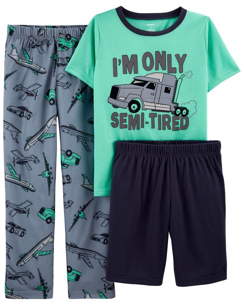 Pyjama 3 pièces de coupe ample à camion, , hi-res