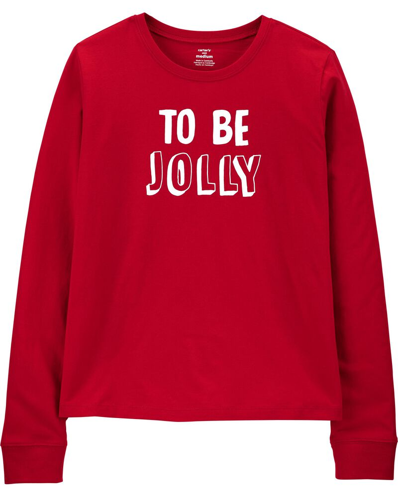 To Be Jolly Holiday Jersey Tee, , hi-res