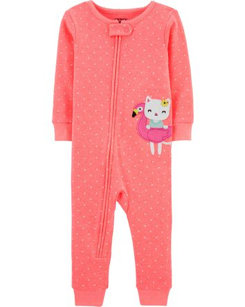 1-Piece Cat Flamingo Snug Fit Cotto...