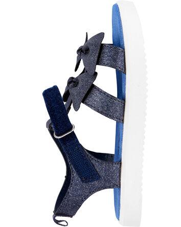 Sandales à talon plateforme en cham...