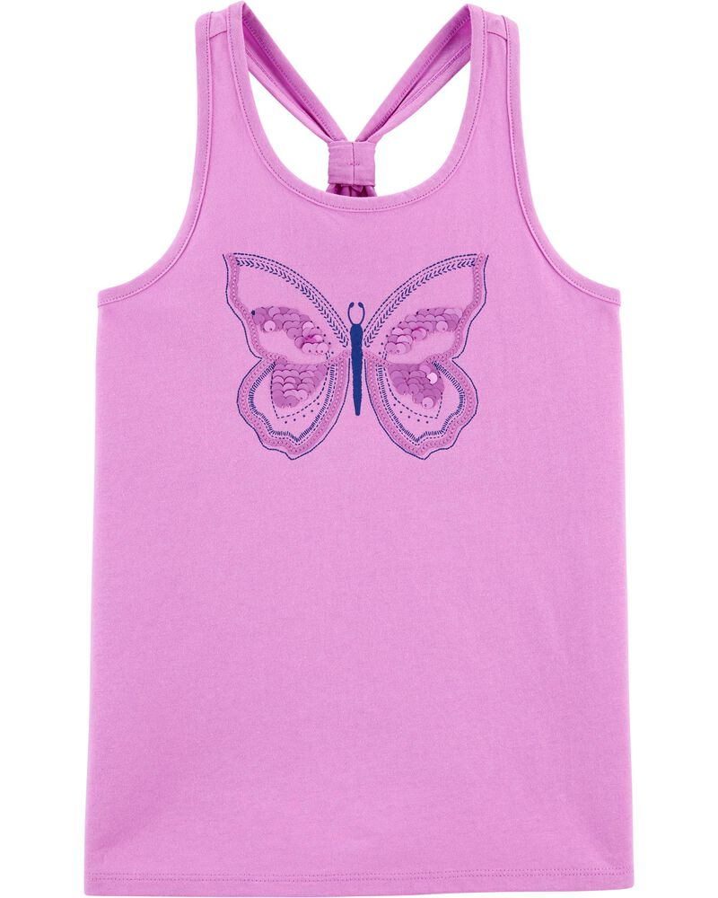 Débardeur style dos nageur à papillons, , hi-res