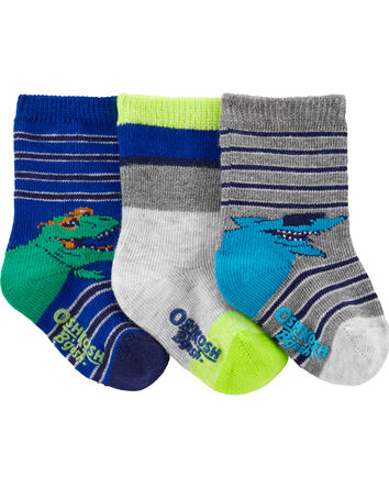 3-Pack Cool Creatures Crew Socks