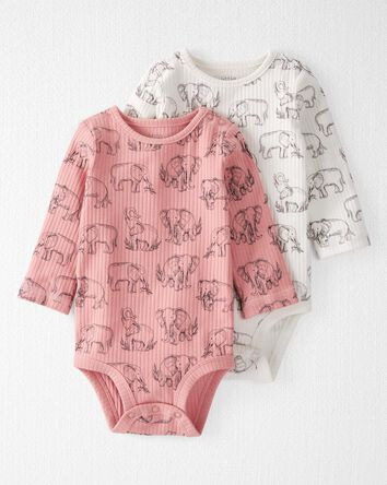 2-Pack Organic Cotton Rib Bodysuits