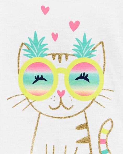 Kitty Ruffle Slub Tee