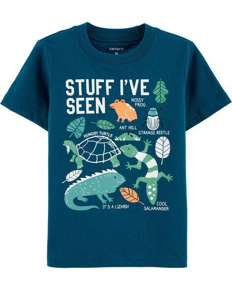 T-shirt en jersey reptile