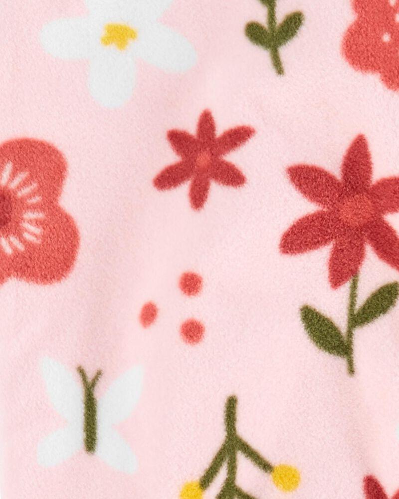 Combinaison molletonnée fleurie à glissière , , hi-res