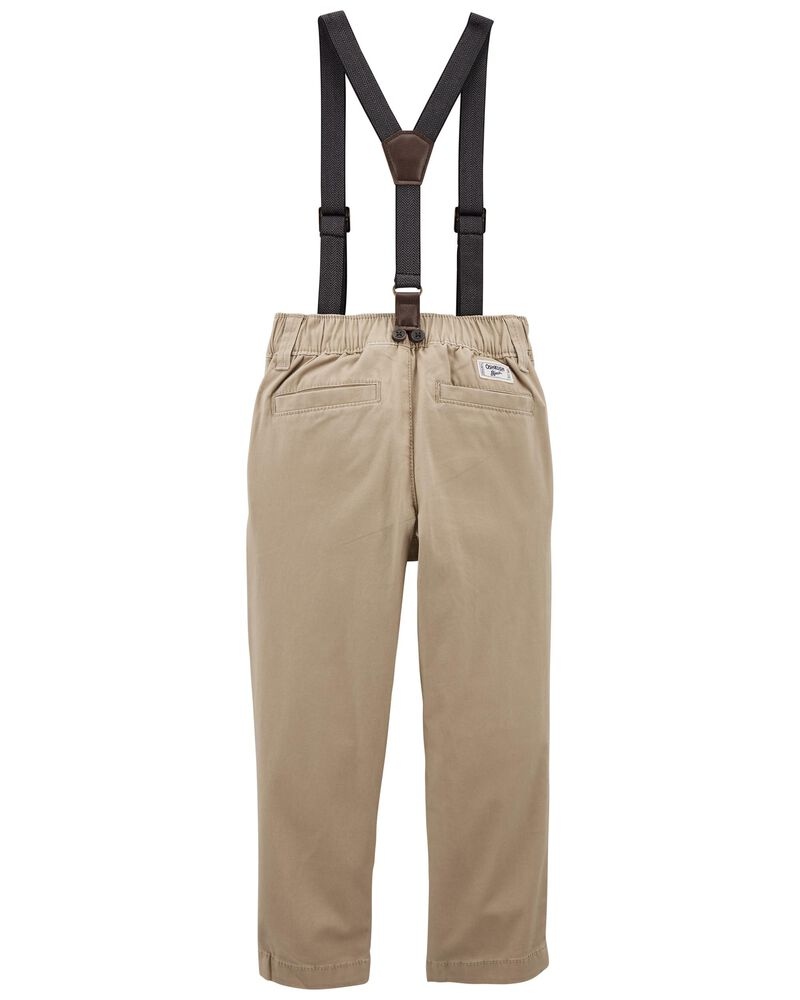Stretch Suspender Pants, , hi-res