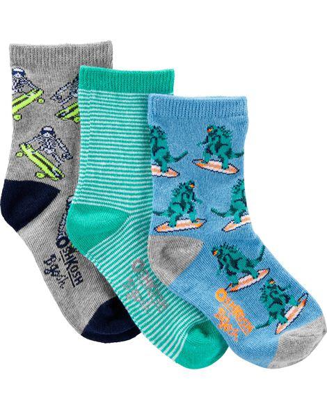 3 paires de chaussettes à motif surf