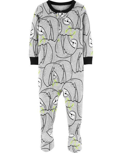 1-Piece Sloth Snug Fit Cotton PJs