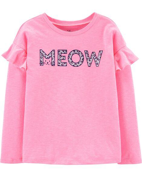Haut volanté Meow