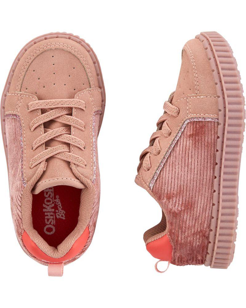 Pink Corduroy Sneakers, , hi-res