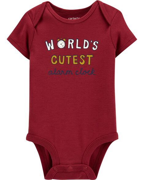 World's Cutest Alarm Clock Original Bodysuit