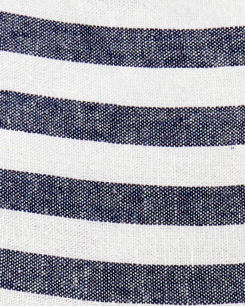 Striped Linen Dress, , hi-res