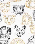 Pyjama 4 pièces en coton ajusté à lion, , hi-res