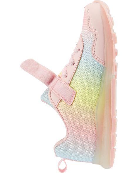 Chaussures arc-en-ciel clignotantes