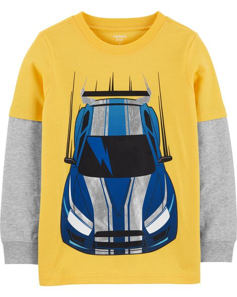 Race Car Layered-Look Jersey Tee