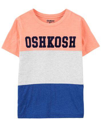 T-shirt à logo de couleurs contrast...