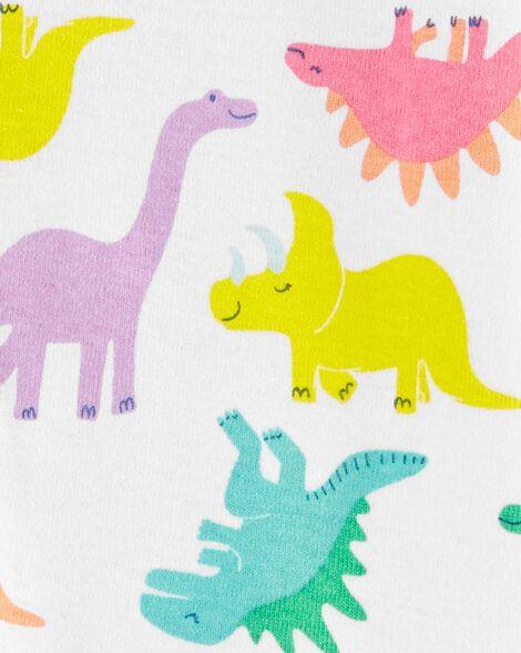 1-Piece Dinosaur Snug Fit Cotton Footless PJs
