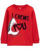 Valentine's Day Shark Jersey Tee, , hi-res