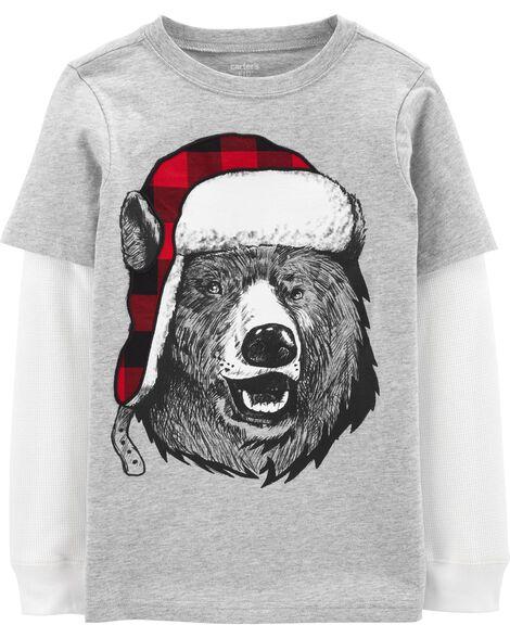 Winter Bear Layered-Look Tee