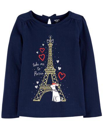 Eiffel Tower Dog Jersey Tee