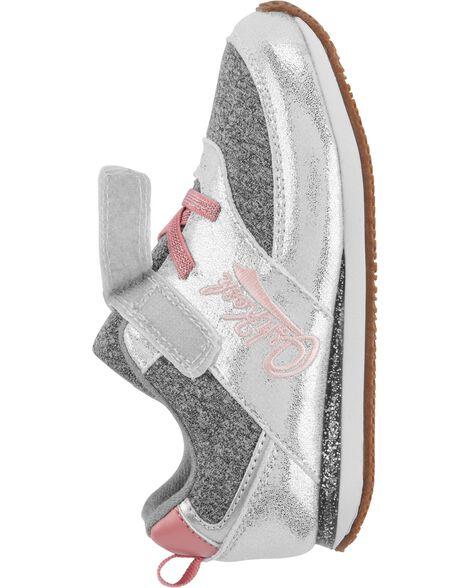 Silver Metallic Athletic Sneakers