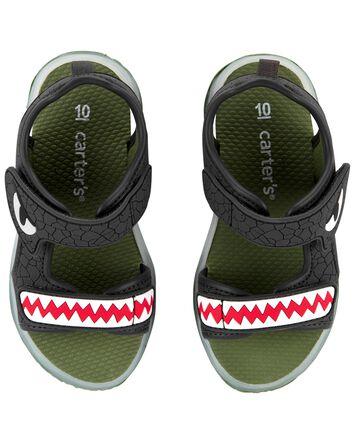 Sandales clignotantes à dinosaure