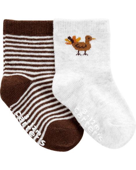 2-Piece Thanksgiving Socks