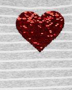 Robe à capuchon en jersey à motif de cœurs, , hi-res