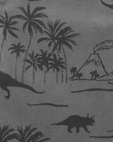 Dinosaur Canvas Shortalls