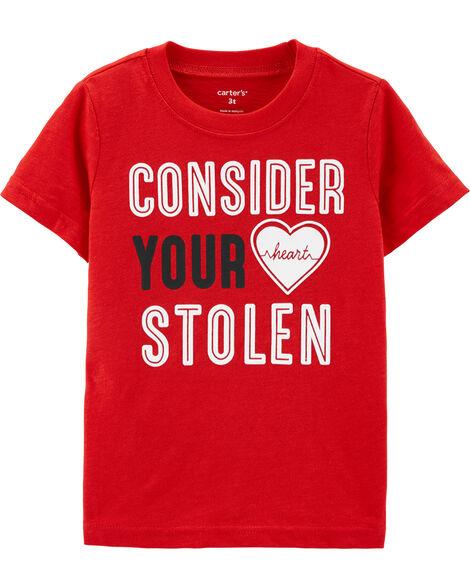 T-shirt en jersey flammé Saint-Valentin