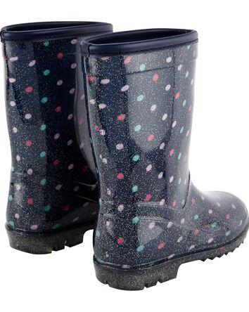 Bottes de pluie à pois