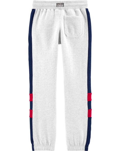 Side Stripe Fleece Joggers