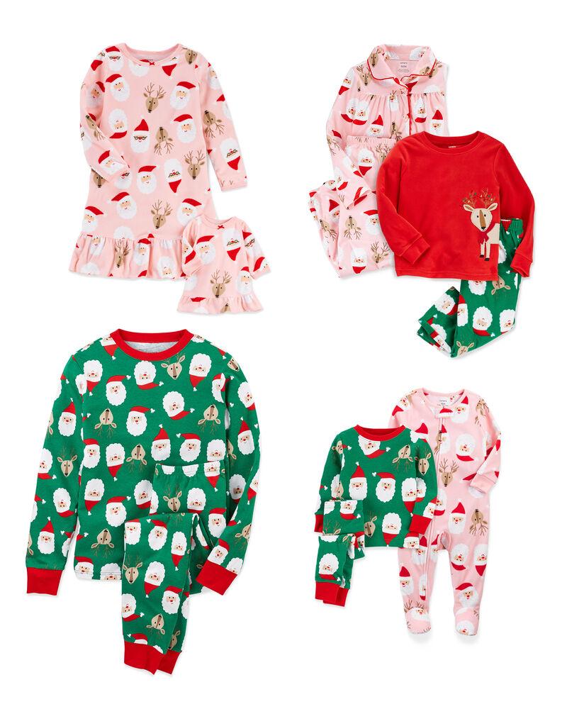 Family Matching Holiday Santa PJs, , hi-res