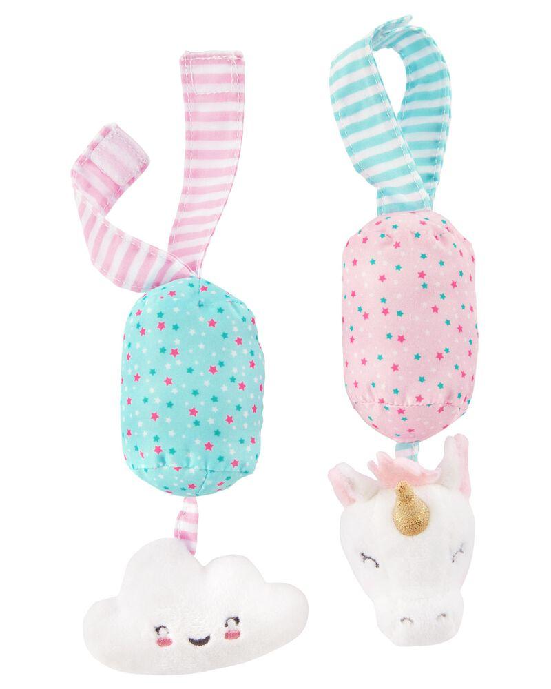 Unicorn & Cloud Plush Chime Toy Set, , hi-res