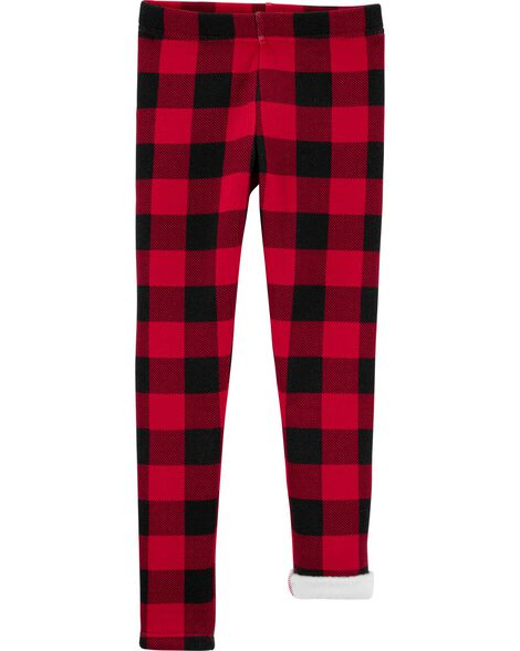 Buffalo Check Cozy Fleece Leggings
