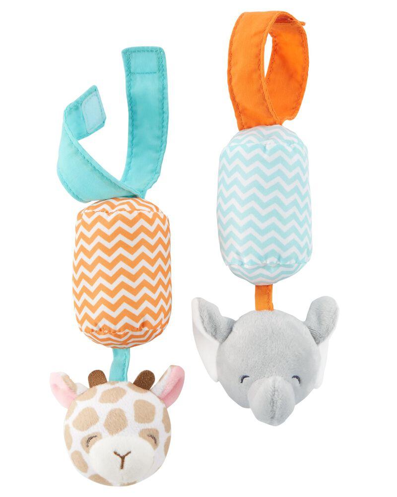 Jouet musical girafe et éléphant en peluche, , hi-res