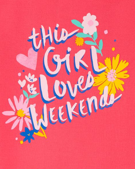 Pyjama 2 pièces en coton ajusté Weekend Love