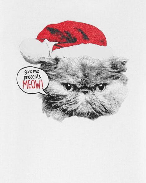 Pyjama à chat des Fêtes en coton ajusté