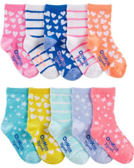 Emballage de 10 paires de chaussettes mi-mollet