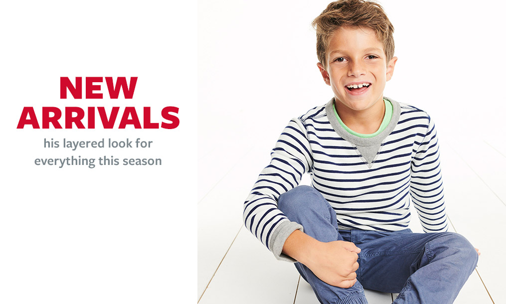 new arrivals | his layered look for everything this season